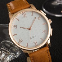Designer's New Arrival Great Deal Gift Awesome Good Price Trendy Men Watch Simple Design Stylish Casual Quartz Watch [281920831517]