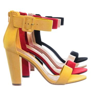 Frenzy60 Classic Chunky Block Heel Dress Sandal w Ankle Strap
