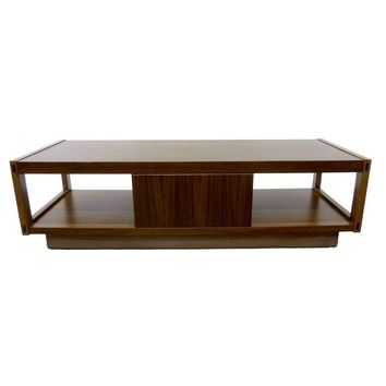 Pre-owned Architectonic Walnut Coffee Table by Lane