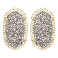 Ellie Earring, Platinum Drusy by Kendra Scott | Charm & Chain