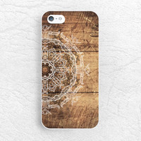 Mandala floral henna Wood print Phone Case for iPhone 6 5c 5s 4s, Samsung, Sony z1 z3 compact, LG g3 g2 nexus 5, vintage abstract cover -S4