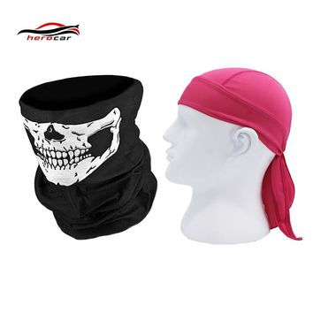 HEROBIKER Motorcycle Mask Biker Balaclava Men Face Shield Quick Dry Motorcycle Skull Caps Helmet Headwrap Bandana Maske Headband