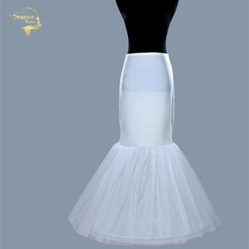Hot Sale Free Shipping Hot Sale Mermaid Chemise Petticoat Crinoline Slip Underskirt For Wedding Dress Bridal Gown 005