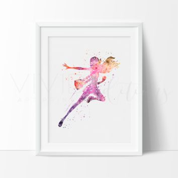 Honey Lemon Watercolor Art Print