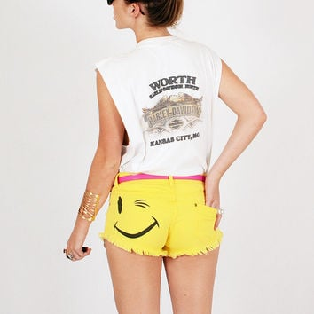 Smiley Face Shorty Shorts | CLOTHES Bottoms | BOGATTE