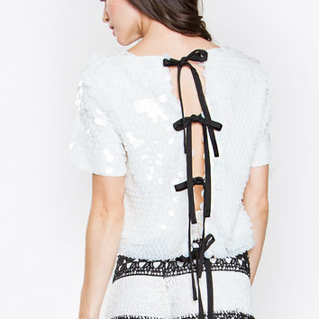 ELLE SEQUIN TOP