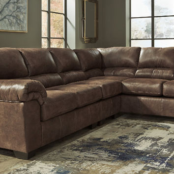 Ashley Furniture 12000-55-46-67 3 pc Bladen coffee fabric sectional sofa set with rounded arms