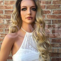 "Shellie Dark Blonde 24"" Lace Front Wig"
