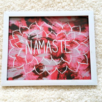 Hippie bohemian Namaste 8.5 x 11 inch art print poster for baby nursery, dorm room, or home decor