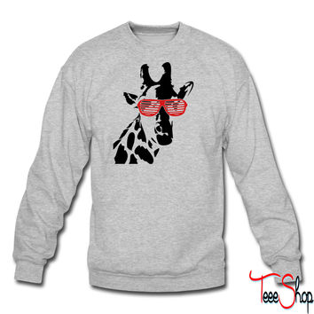 Party Giraffe crewneck sweatshirt