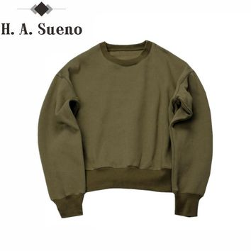 Sweatshirts simple solid men's Hoodies oversize drooping shoulders men's tops olive camel black color