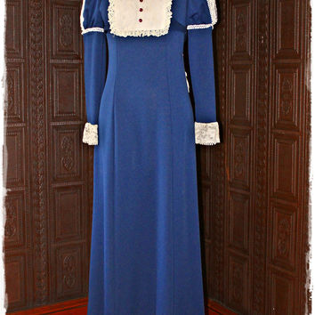 DIVINE JULIET SLEEVE 60'S FRENCH VICTORIAN MAID MAXI DRESS