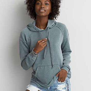 AEO Washed Classic Hoodie, Teal