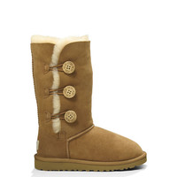UGG® Youth's Bailey Button Triplet | Classic Sheepskin Boots at UGGAustralia.com