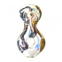 """Assorted Ribbon Pendant Hand Pipe 4"""""""