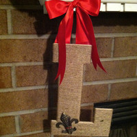 Jute Twine Covered Monogram Door Hanger or Wall Hanging