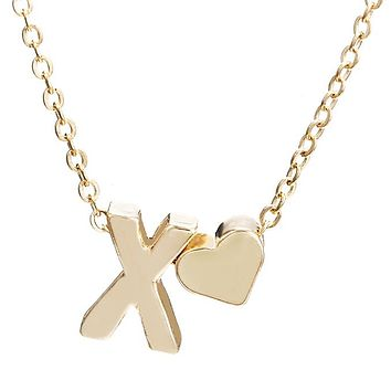 Fashion  Women  Charms Tiny Golden Color Initial Necklace Letter Choker Initials Name Necklaces Pendant