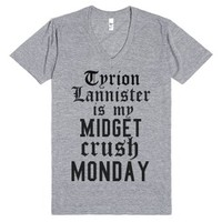 Tyrion Lannister is my Midget Crush Monday-Athletic Grey T-Shirt