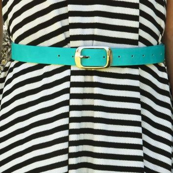 Talk About Her Belt: Teal