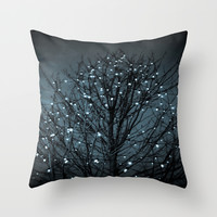 December Throw Pillow by The Dreamery