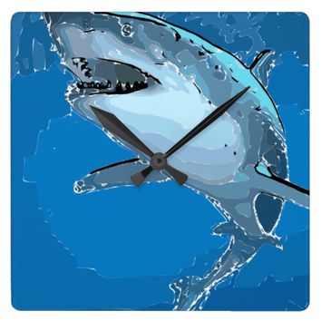 Great White Shark Coastal Clock
