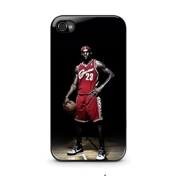 lebron james cleveland iphone 4 4s case cover  number 1