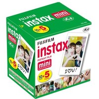 Fujifilm Instax Mini Film Five Pack (50 Exposures)