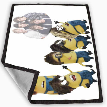 despicable me minion one direction Blanket for Kids Blanket, Fleece Blanket Cute and Awesome Blanket for your bedding, Blanket fleece *
