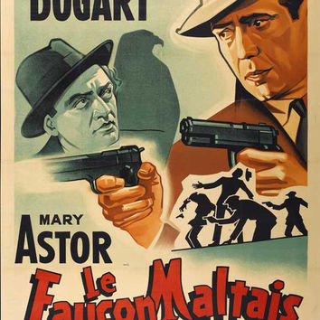 The Maltese Falcon (French) 27x40 Movie Poster (1941)