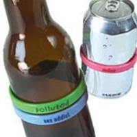 Fred & Friends BEER BANDS Drink Markers - Personalities, Set of 12