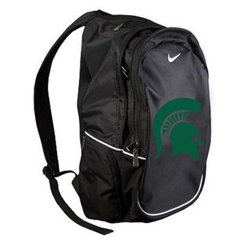 LMFON NCAA Nike Michigan State Spartans Black Multi-Section Backpack