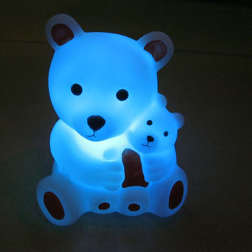 7 Changing Colors LED Night Light Bears Shaped LED Night Light Party Decoration Lamp Nightlight Great Gift For Kids
