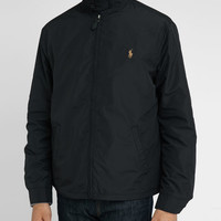 Black Nylon Raglan Jacket POLO Ralph Lauren men Jackets Black men