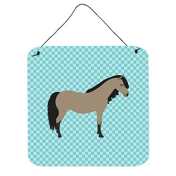 Welsh Pony Horse Blue Check Wall or Door Hanging Prints BB8084DS66
