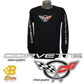 C5 Corvette Black Long Sleeved Shirt w/Script on Sleeves