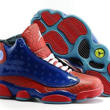 "Air Jordan 13 Retro ""Spiderman"" Men Basketball Shoes Size US 8-13"