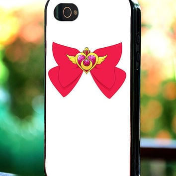 Silicone - Plastic - Sailor Moon Bowties Crisis Moon Compact - iPhone 4/4s, 5, 5s, 5c, Samsung S3, S4