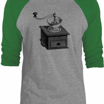 Big Texas Coffee Grinder 3/4-Sleeve Raglan Baseball T-Shirt