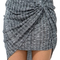 Ribbed Wrap Skirt