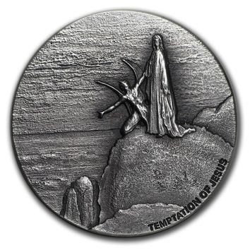2018 Niue 2 oz Silver Biblical Series (Temptation of Jesus)