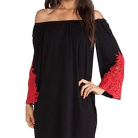 VAVA by Joy Han Kiana Off Shoulder Dress in Black