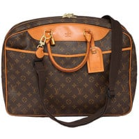 1980s Louis Vuitton Soft Sided Luggage Carry On Bag