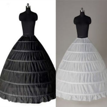 Puffy Black Petticoat Crinoline Slips for Ball Gown Quinceanera Bridal Dress