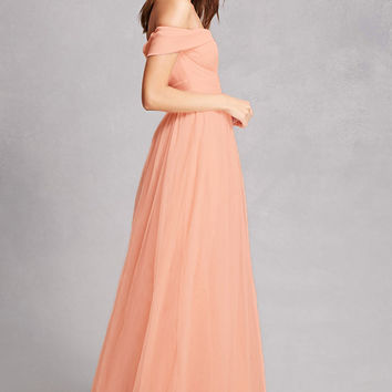 Off-the-Shoulder Tulle Gown