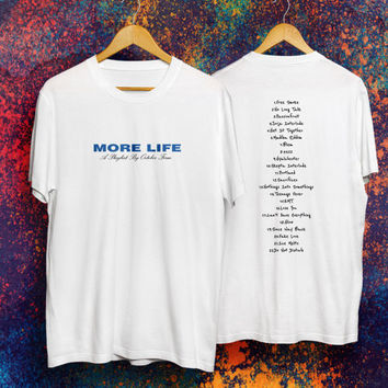 Drake Shirt More Life T-shirt Drake Hoodie Drake Album Tee Drake More Life Merch Fan Made More Life Tour Drake Tour T shirt Tour Merch