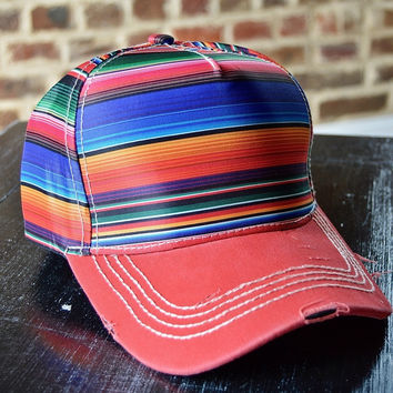 Red Serape Baseball Hat