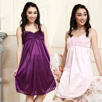 Lace Nightgowns Sleepshirts Sexy Sleepwear Women Sleep Lounge Babydoll Sleepwear Night Dress Women Nightwear Nightgown One Size
