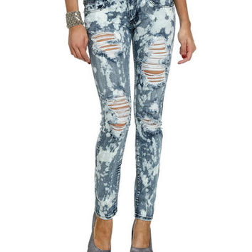 Bleached Spotted Skinny Jean | Shop Trending Now at Wet Seal