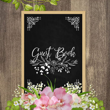 Guest book sign, Wedding guest book sign, Rustic wedding signs, Guest book poster, Party guest book sign, Country barn wedding decorations