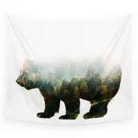 Society6 Colorado Forest Bear Wall Tapestry
